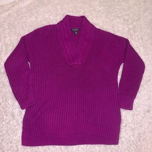 Purple vintage chunky sweater m Ralph Lauren